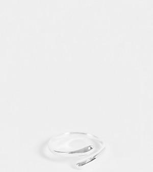 Кольцо из стерлингового серебра с закрученным вокруг пальца дизайном ASOS DESIGN-Серебристый