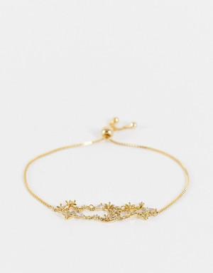 Золотистый браслет со звездами и луной украшенный кристаллами ALDO Gloen